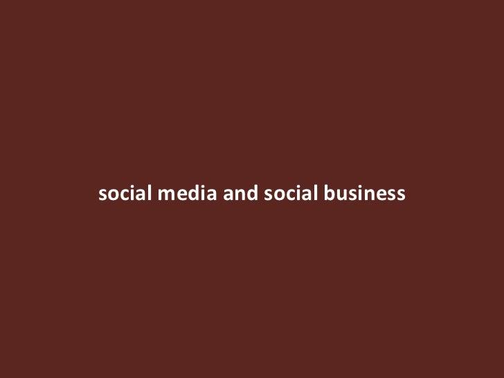 social media and social business