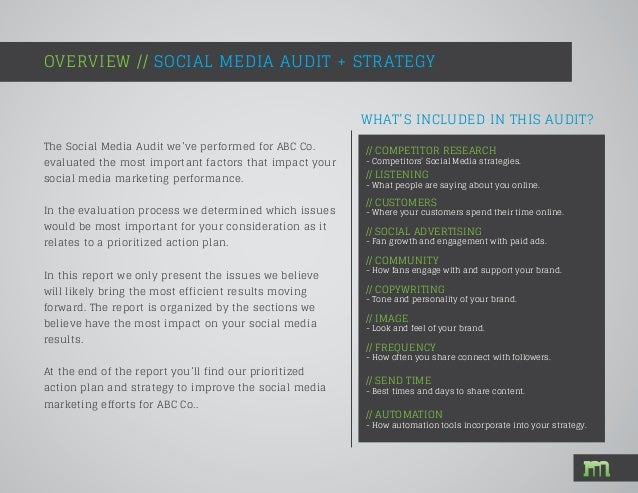 Social Media Audit Example