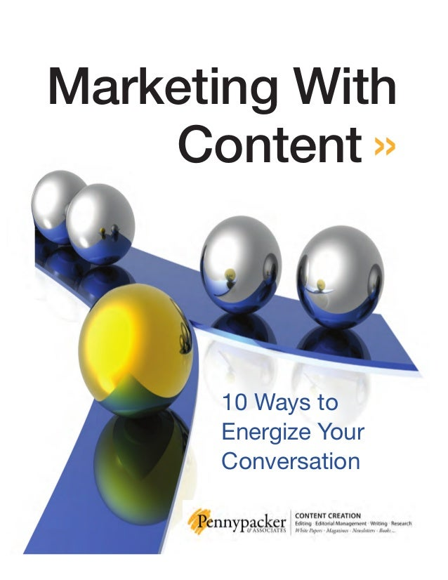 Marketing With Content » 10 Ways to Energize Your Conversation