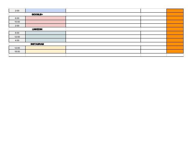 Social Media Content Calendar Template Via Hootsuite - Hootsuite content calendar template