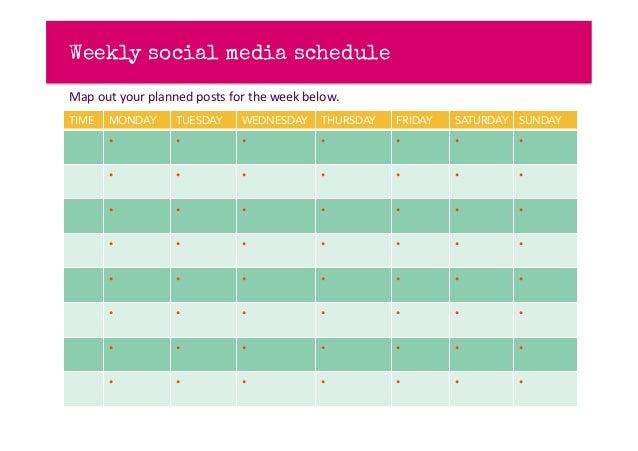 Social Mediacontentplantemplate - Social media content schedule template