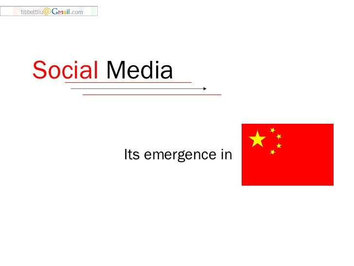 Social  Media   Its emergence in