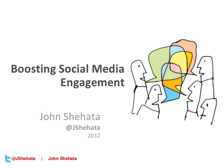 New York | March 19–23, 2012 | #sesnyBoosting Social Media         Engagement            John Shehata                     ...