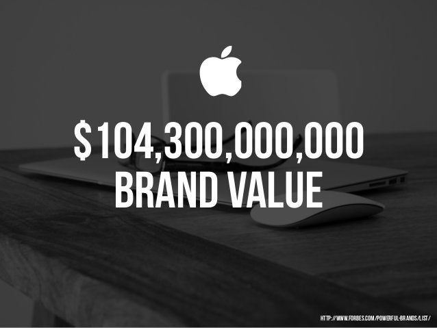 $104,300,000,000 brand VALUE  http://www.forbes.com/powerful-brands/list/