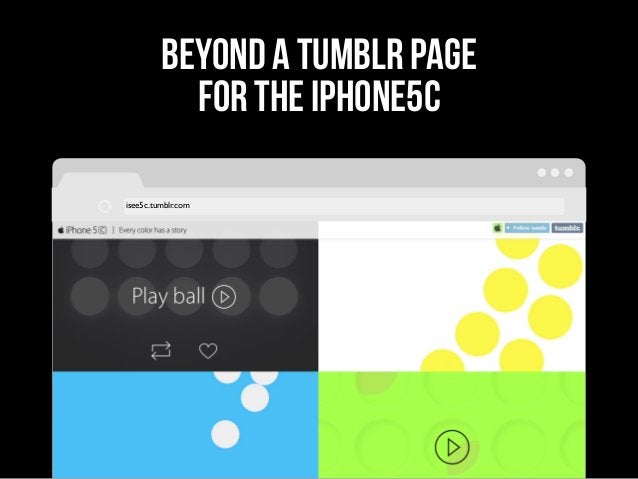 beyond a tumblr page for the iphone5c isee5c.tumblr.com
