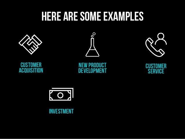 customer acquisition investment new product development Customer service here are some examples