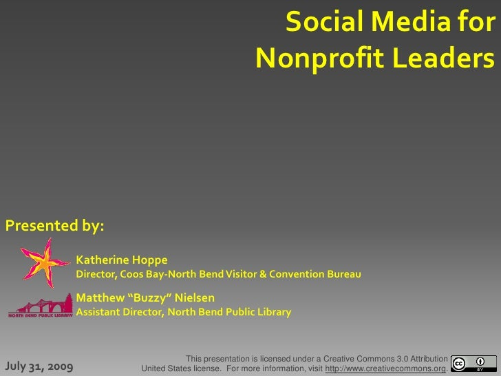 Social Media for                                                            Nonprofit Leaders     Presented by:           ...