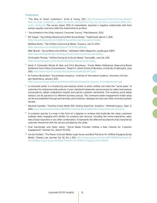 """Footnotes1       """"The Rise of Smart Customers,"""" Ernst & Young, 2011, http://www.ey.com/Publication/vwLUAssets/       Rise..."""