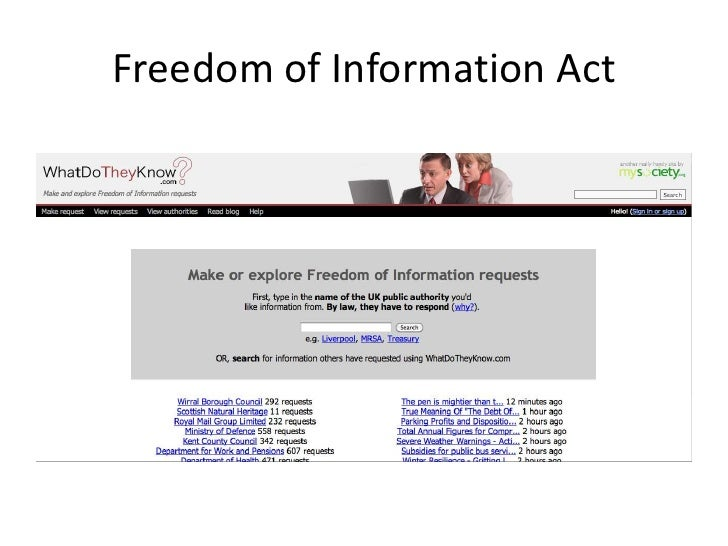 Freedom of Information Act<br />