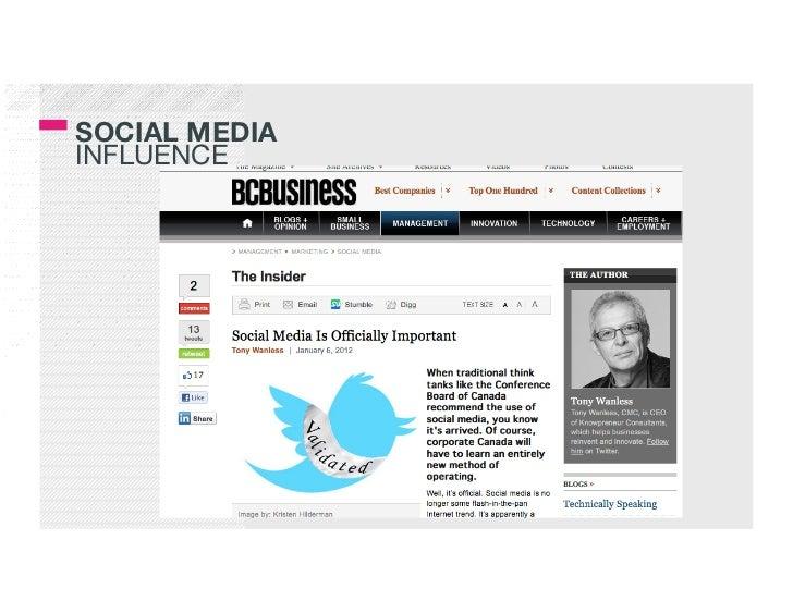 SOCIAL MEDIA!INFLUENCE