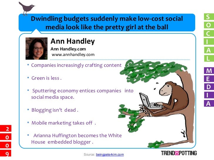 Dwindling budgets suddenly make low-cost social      S          media look like the pretty girl at the ball      O        ...