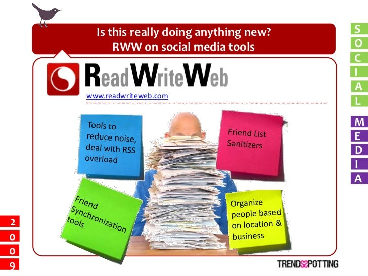 Is this really doing anything new?   S           RWW on social media tools        O                                       ...