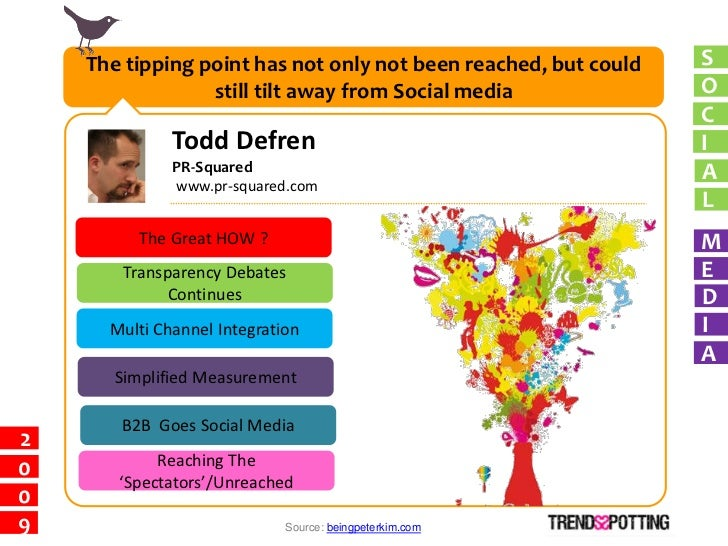The tipping point has not only not been reached, but could   S                  still tilt away from Social media         ...