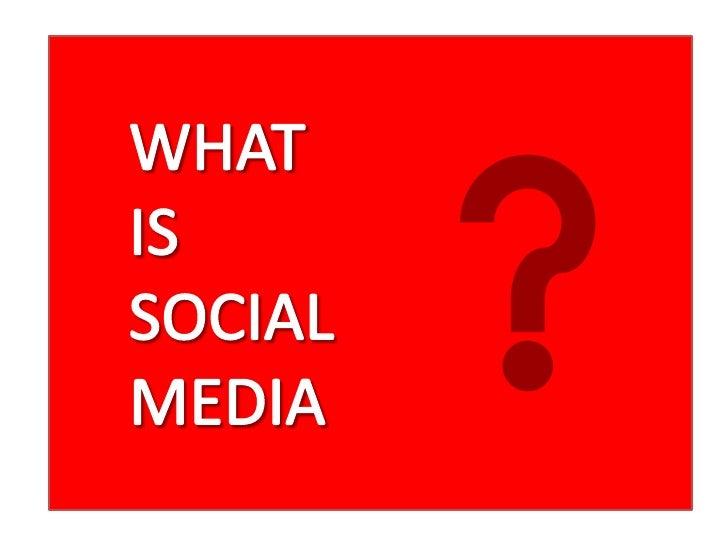 "Social Media is ""an umbrella term thatdefines the various activities thatintegrate technology, socialinteraction, and the ..."