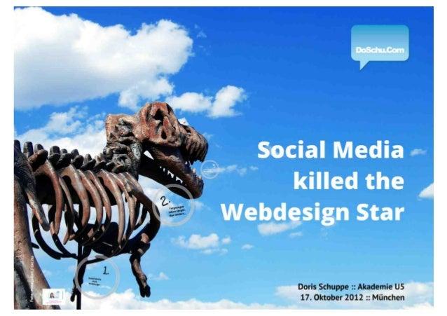 Social  Media killed the Webdesign Star