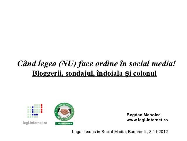 Când legea (NU) face ordine în social media!    Bloggerii, sondajul, îndoiala și colonul                                  ...