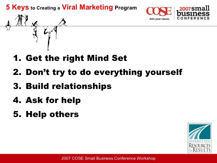 5 Keys   to Creating a   Viral Marketing   Program <ul><li>Get the right Mind Set </li></ul><ul><li>Don't try to do everyt...
