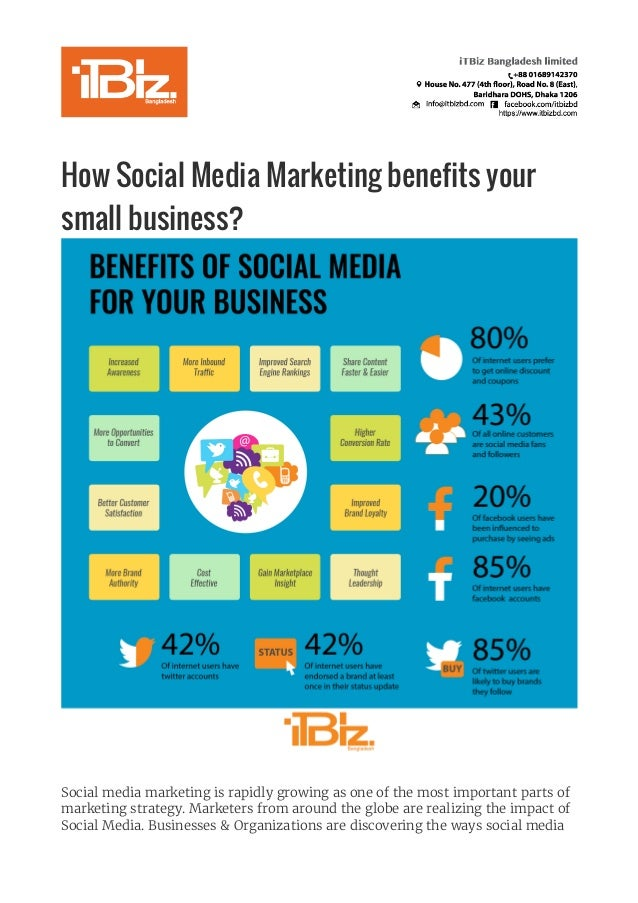 How Social Media Marketing benefits your small business?   Social media marketing is rapidly growing as one of the most ...