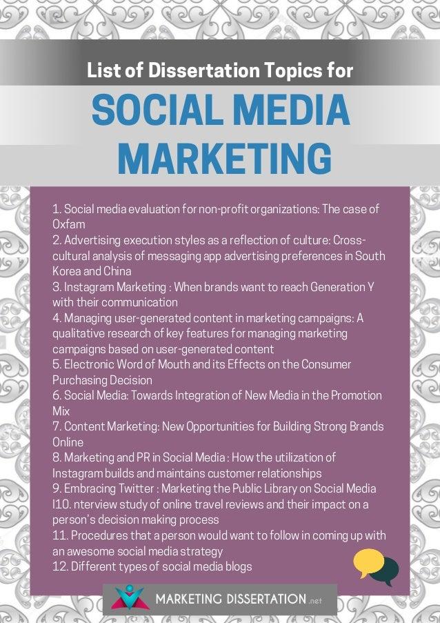 media dissertation titles