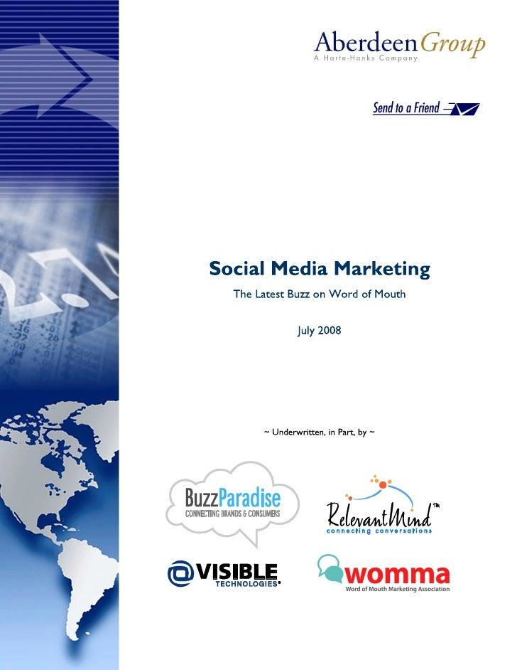 Social Media Marketing   July 2008