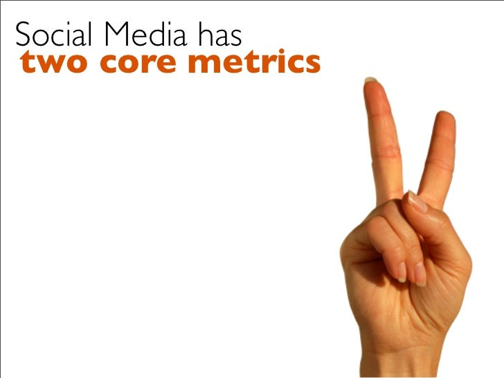 Social Media has two core metrics