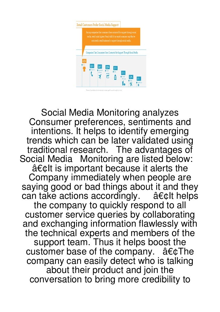 Social Media Monitoring analyzes   Consumer preferences, sentiments and    intentions. It helps to identify emerging  tren...
