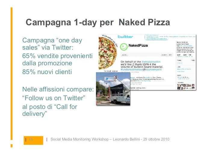 """Campagna 1-day per Naked Pizza Campagna """"one day sales"""" via Twitter:  65% vendite provenienti dalla promozione   85% nu..."""