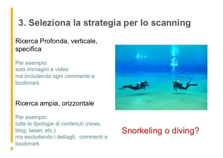 3. Seleziona la strategia per lo scanning Ricerca Profonda, verticale, specifica  Per esempio: solo immagini e video ma in...