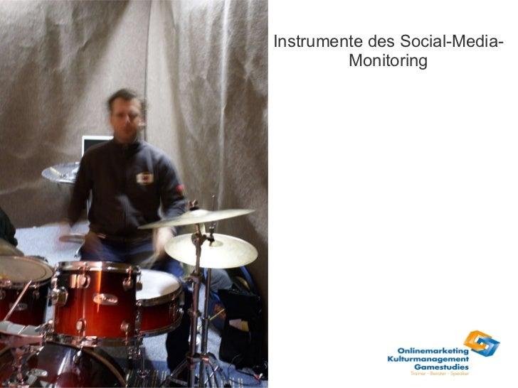 Instrumente des Social-Media-Monitoring