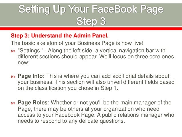 """Step 4: Populate Page With Content.  Now it's time to actually publish content to your Page and then Invite others to """"Li..."""