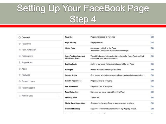 Cover Photo This is the large, horizontal image that spans the top of your Facebook Page. Typically, this is a branded ima...