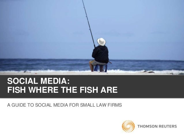 SOCIAL MEDIA:FISH WHERE THE FISH AREA GUIDE TO SOCIAL MEDIA FOR SMALL LAW FIRMS