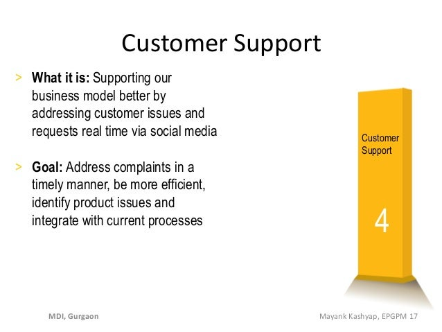 > What it is: Supporting our business model better by addressing customer issues and requests real time via social media >...