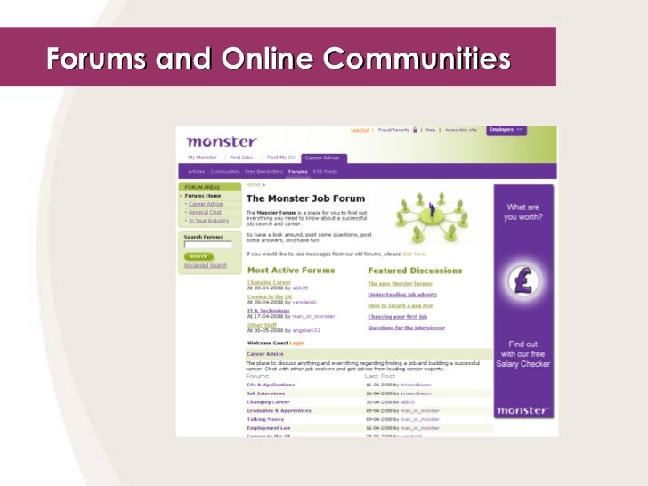 Forums and Online Communities