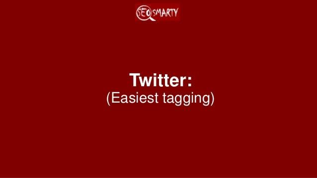 Social Media Tagging Cheatsheet: How to Tag Users on Twitter, Facebook, Linkedin, Instagram, Google Plus Slide 3