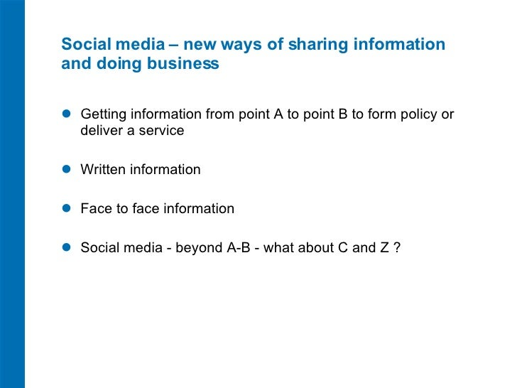 Social Media and Modern Ways of Working to Civil Service Live Slide 2