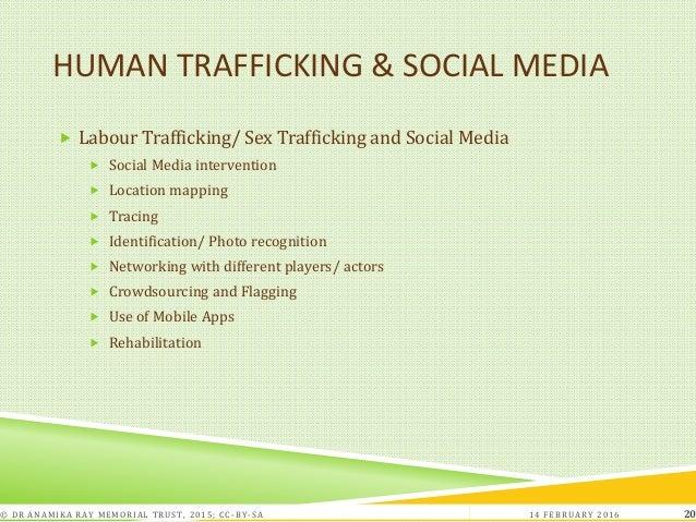 HUMAN TRAFFICKING & SOCIAL MEDIA  Labour Trafficking/ Sex Trafficking and Social Media  Social Media intervention  Loca...
