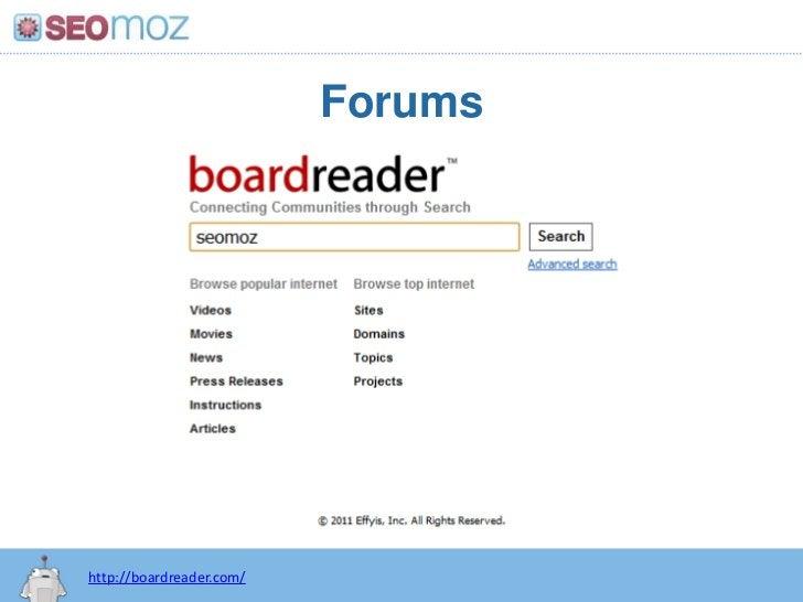 Forums<br />http://boardreader.com/<br />