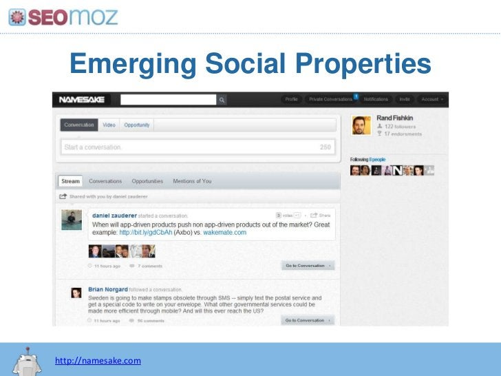 Emerging Social Properties<br />http://namesake.com<br />