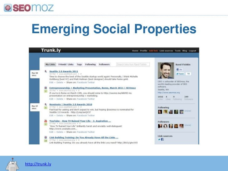 Emerging Social Properties<br />http://trunk.ly<br />