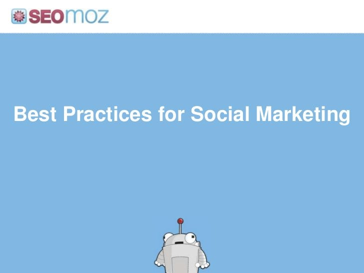 Best Practices for Social Marketing<br />