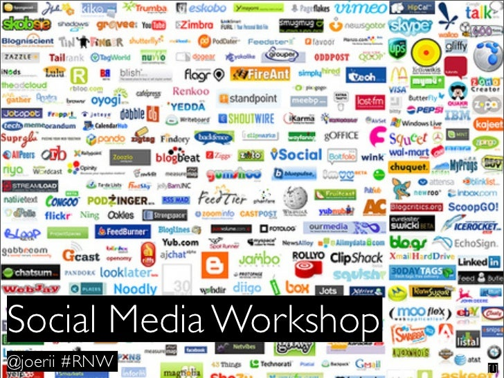 Text     Social Media Workshop @joerii #RNW            [1]