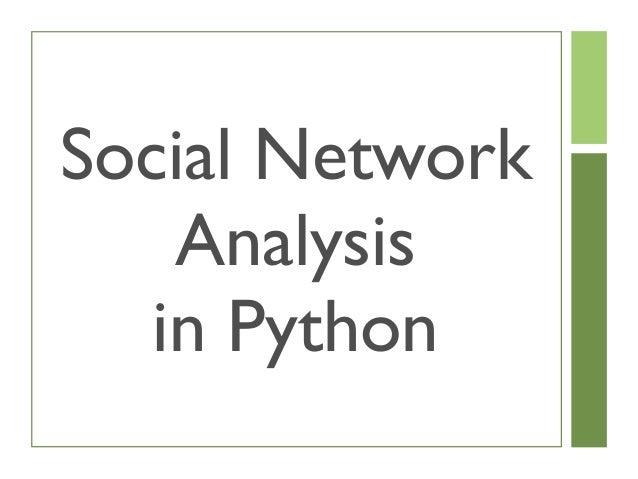 Social network-analysis-in-python Slide 3