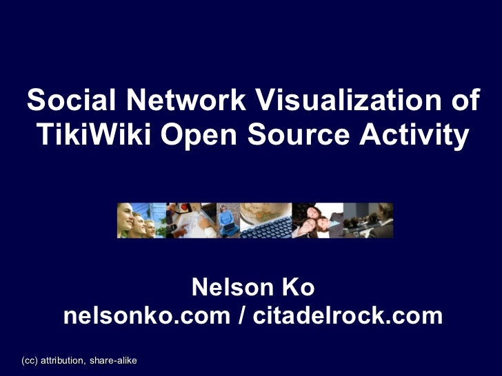 Social Network Visualization of  TikiWiki Open Source Activity                        Nelson Ko           nelsonko.com / c...