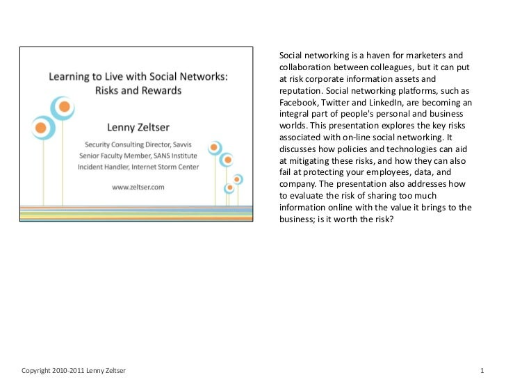 Social networking is a haven for marketers and                                    collaboration between colleagues, but it...
