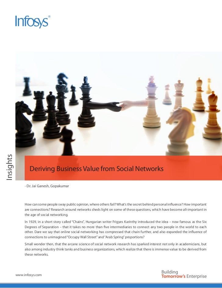 Insights                   Deriving Business Value from Social Networks                - Dr. Jai Ganesh, Gopakumar        ...