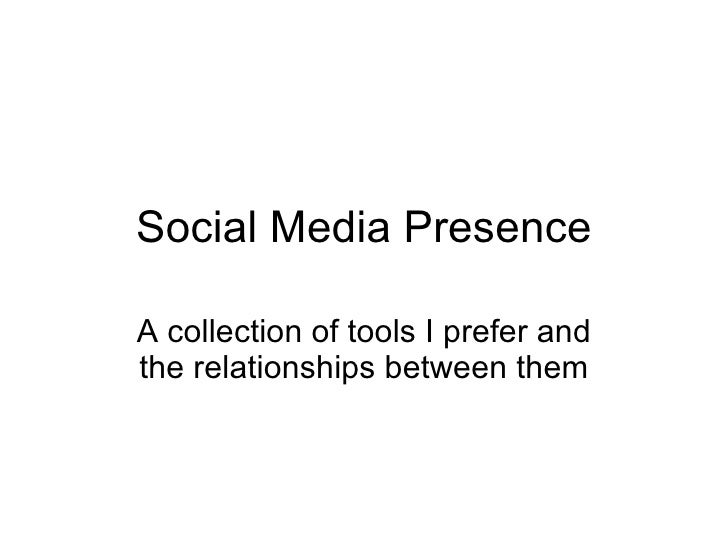 Social Media Presence A collection of tools I prefer and the relationships between them
