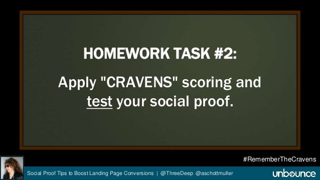 """HOMEWORK TASK #2:  Apply """"CRAVENS"""" scoring and  test your social proof.  Social Proof Tips to Boost Landing Page Conversio..."""