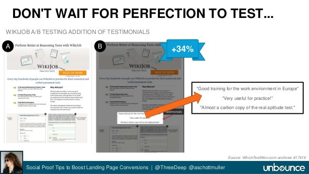 """DON'T WAIT FOR PERFECTION TO TEST...  """"Good training for the work environment in Europe""""  """"Very useful for practice!""""  """"Al..."""