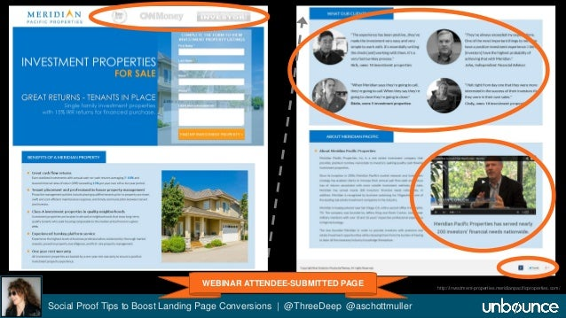 """Meridian Pacific """"Find Properties"""" LP  Social Proof Tips to Boost Landing Page Conversions 